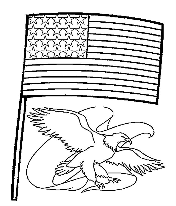 Beautiful Printable Flag Day Coloring Pages