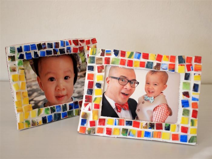 Easy Happy Father's Day Picture Frame Craft