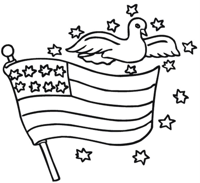 Free Black And White Flag Day Clip Art