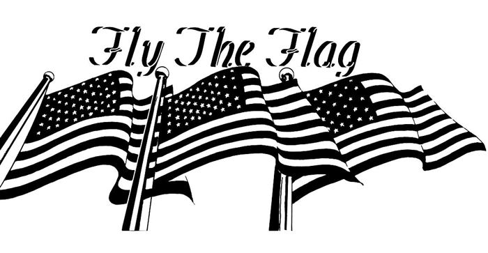Beautiful Black And White Flag Day Clip Art