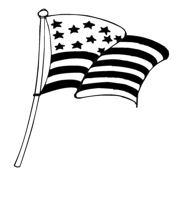 Best Black And White Flag Day Clip Art Free