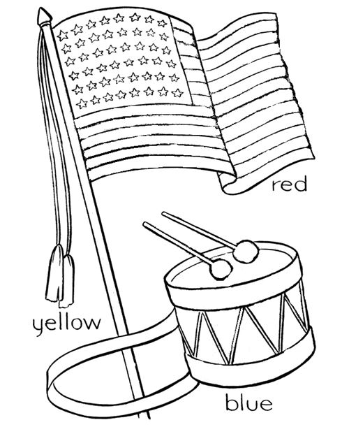 Free Black And White Happy Flag Day Images For Preschoolers