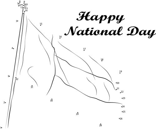 Beautiful Black And White Happy Flag Day Images For Preschoolers