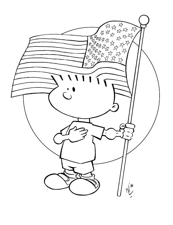 Free Flag Day Coloring Pages For Preschoolers