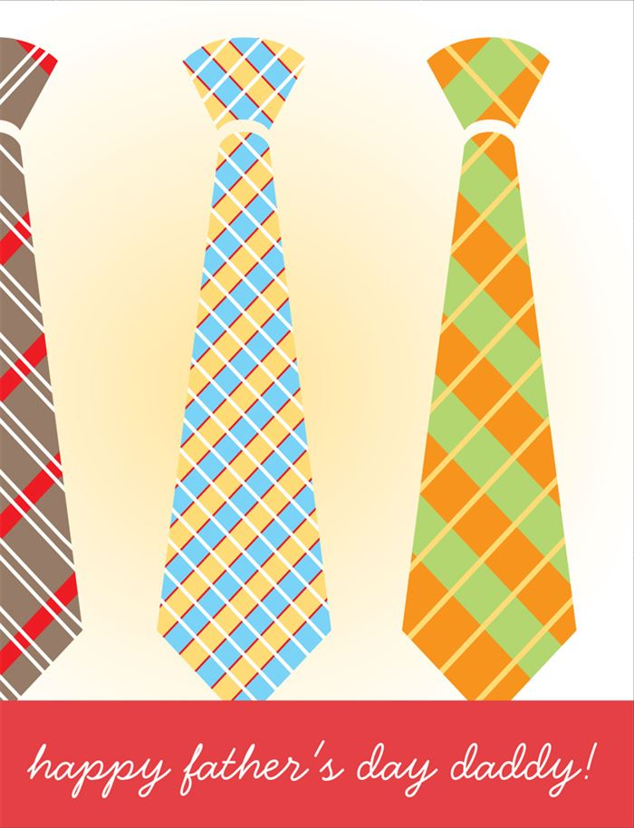 Free Happy Father's Day Ties Clip Art