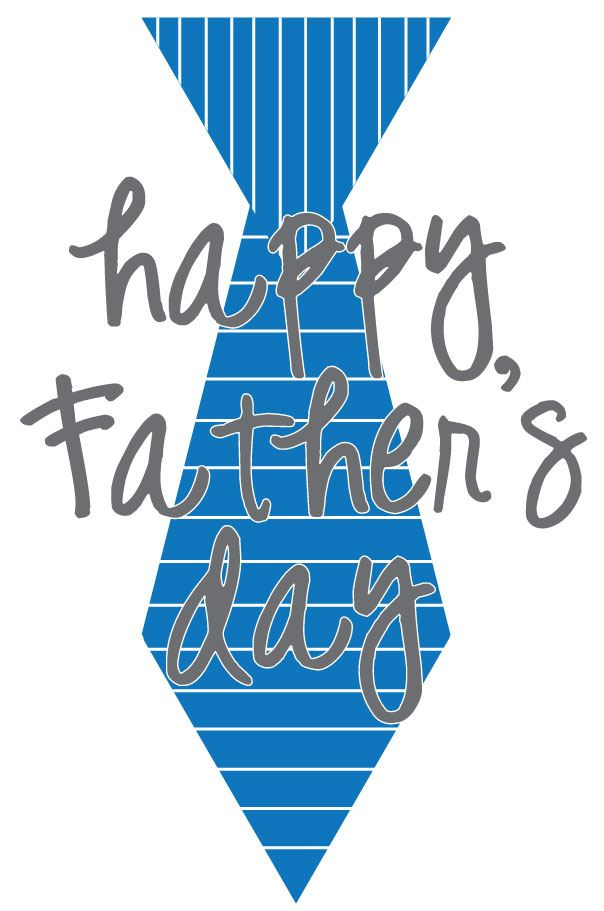 Beautiful Happy Father's Day Ties Clip Art