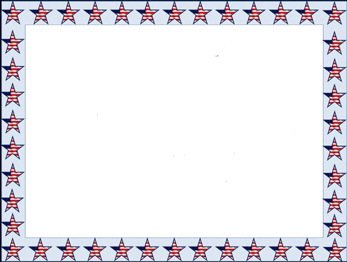 Beautiful Happy Flag Day Clip Art Borders