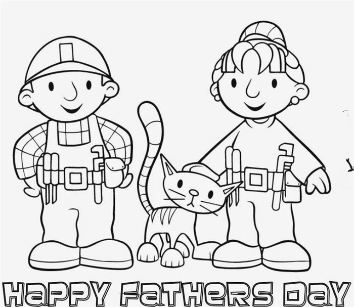 Beautiful Printable Happy Father's Day Clip Art