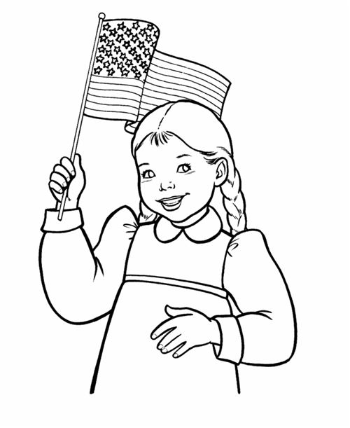 Free American Printable Happy Flag Day Coloring Pages