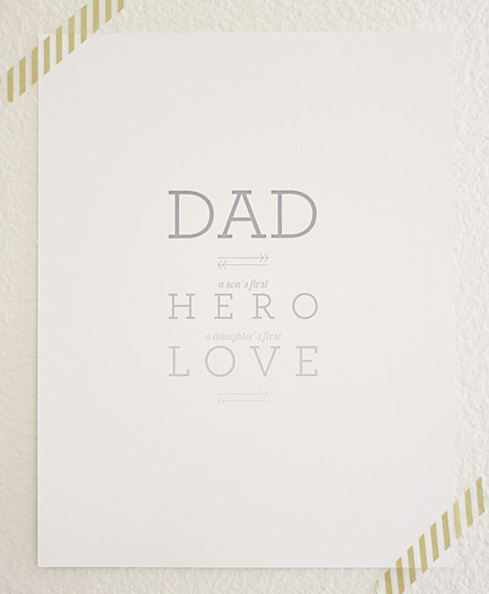 Beautiful Printable Happy Father's Day Picture Frame