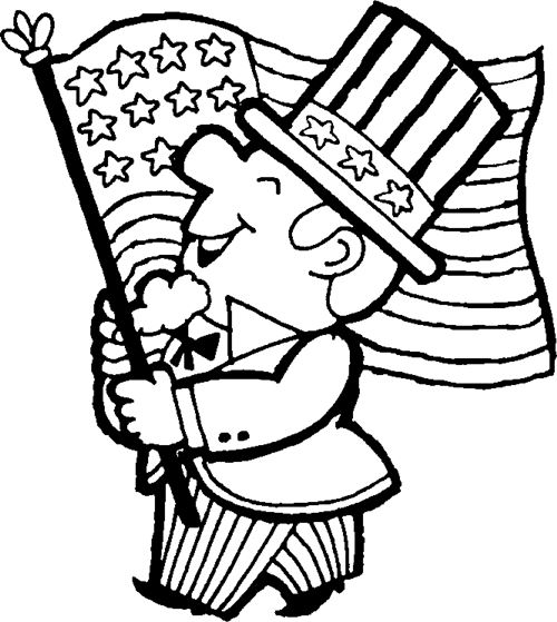 Beautiful Printable Happy Flag Day Coloring Pages For Children