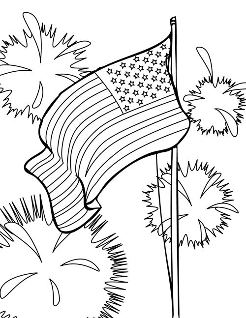 Free Printable Happy Flag Day Coloring Pages For Kids