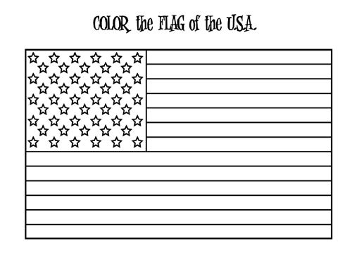 Printable Happy Flag Day Picture For Kindergarten