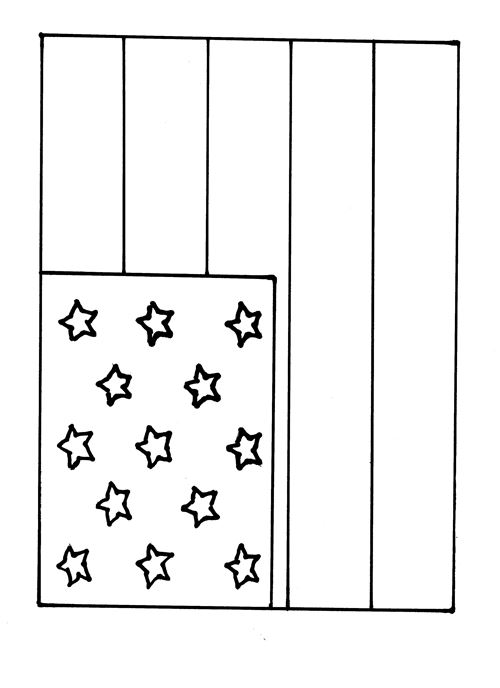 Free Printable Happy Flag Day Picture For Kindergarten
