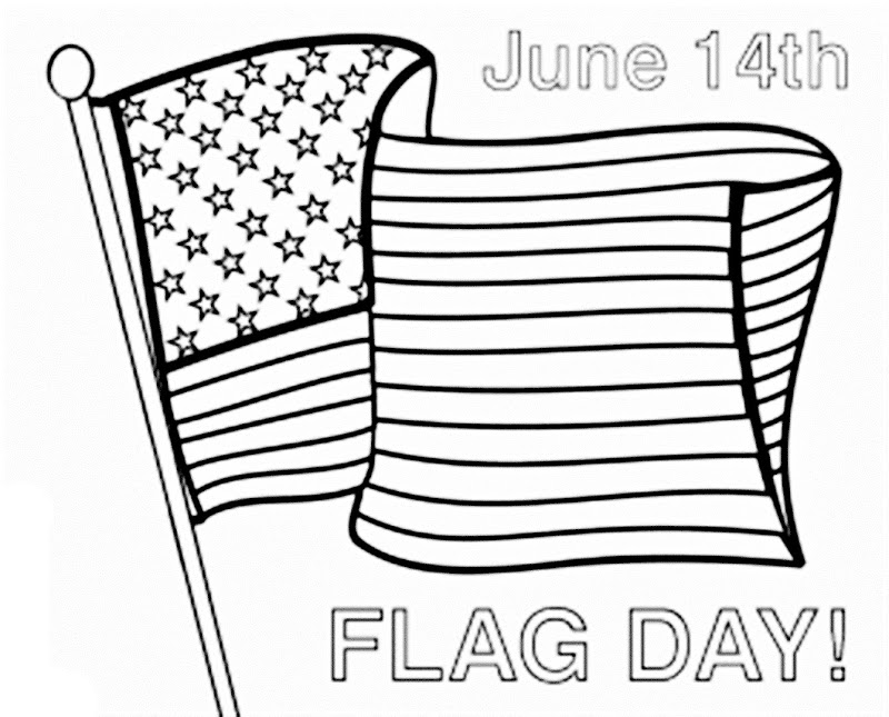 Printable Happy Flag Day Pictures To Color