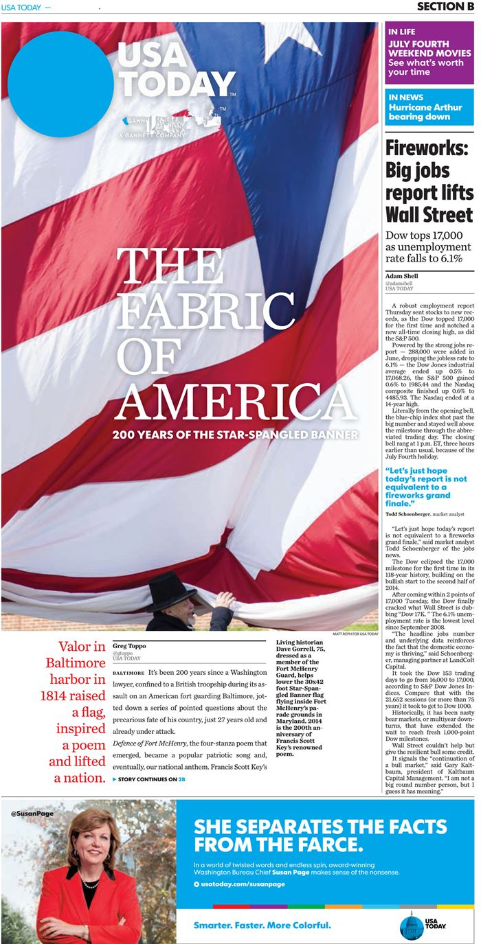 Top Flag Day Chicago Tribune Puzzle Page