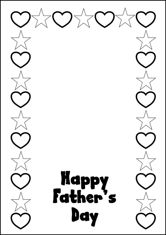 Beautiful Happy Father's Day Picture Frames To Print