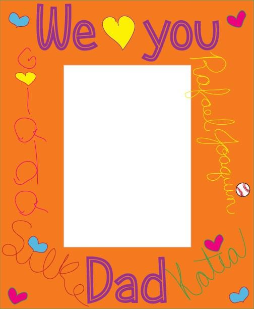 Free Happy Father's Day Picture Frames To Print