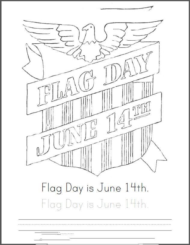 Unique Flag Day Coloring Picture For Kids To Print