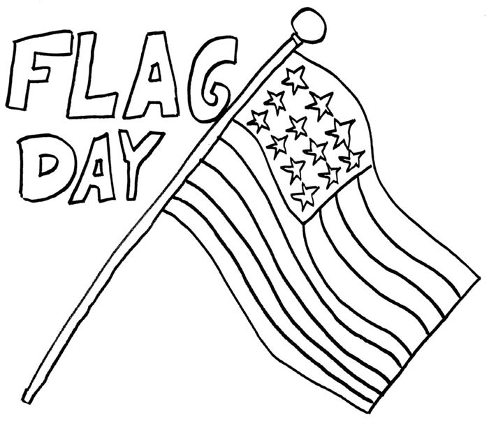 Free Flag Day Coloring Picture For Kids To Print