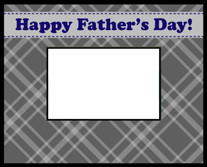 Unique Happy Father's Day Picture Frame Template