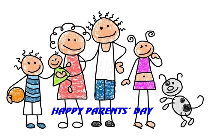 Best Happy Parents Day Clip Art Stick Figures Free