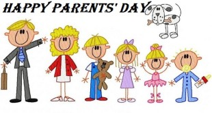 Beautiful Happy Parents Day Clip Art Stick Figures