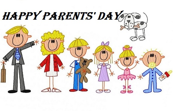 Unique Happy Parents Day Clip Art Stick Figures
