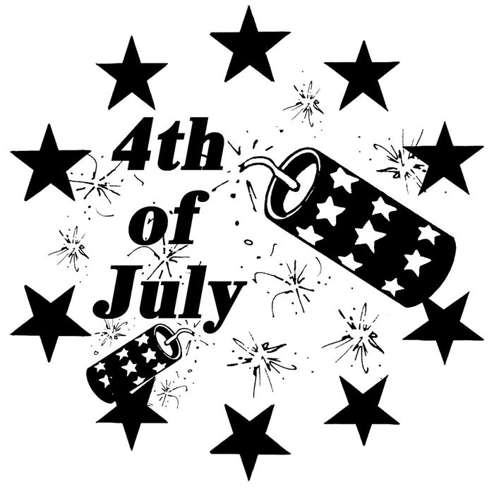 Beautiful Independence Day Clip Art Black And White