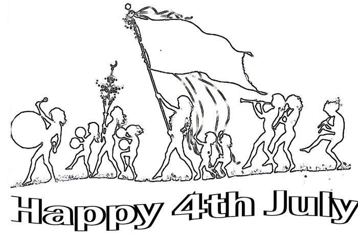 Meaningful Independence Day Clip Art Black And White
