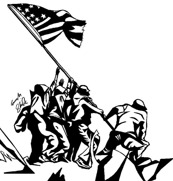 Inspirational Independence Day Clip Art Black And White