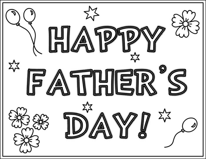 Best Free Happy Father's Day Pictures To Color