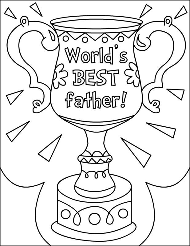 Beautiful Free Happy Father's Day Pictures To Color