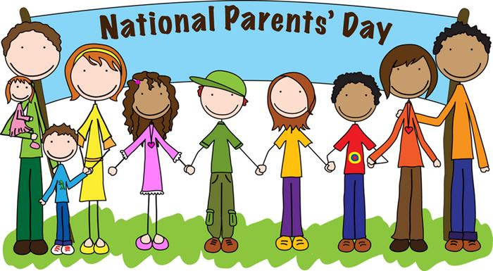Meaningful National Happy Parents Day Clip Art