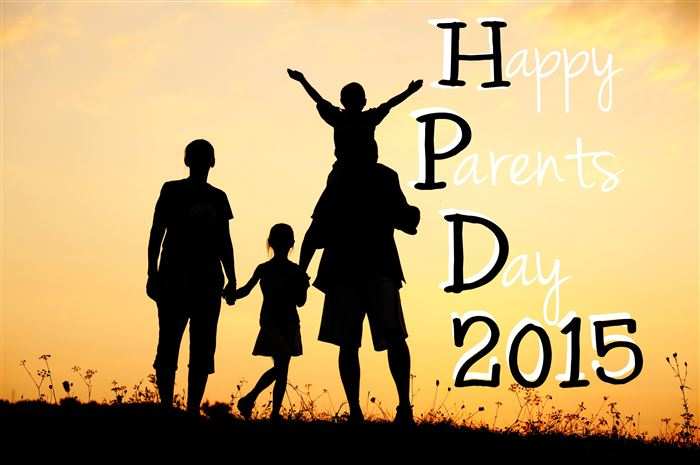 Beautiful National Happy Parents Day Clip Art