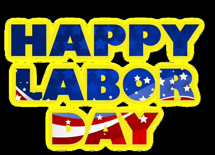 Beautiful Happy Labor Day Clip Art