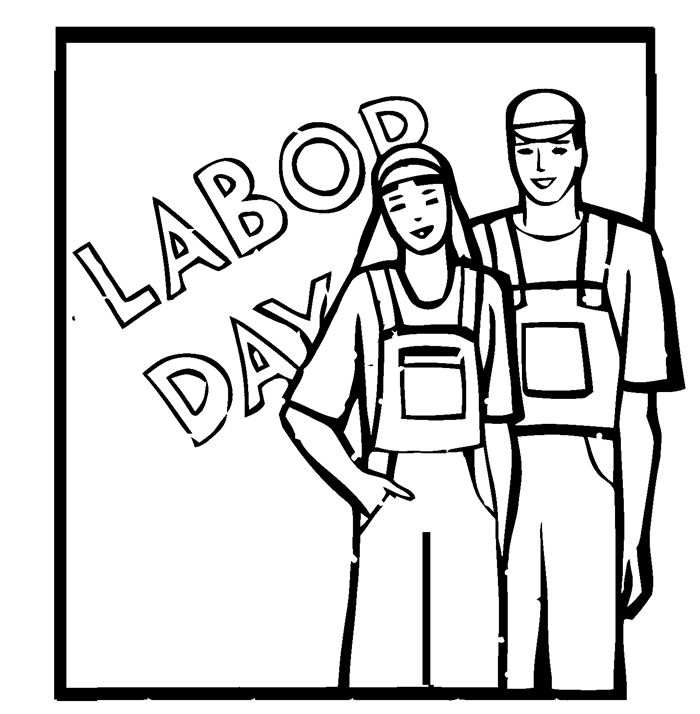 Best Black And White Happy Labor Day Clip Art Free