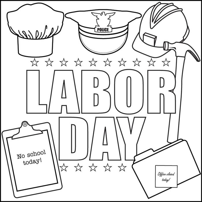 Beautiful Happy Labor Day Clip Art Black And White