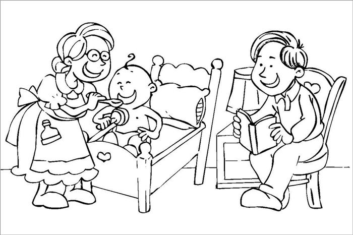 Best Printable Happy Parents Day Pictures To Color