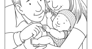 Top Beautiful Happy Parents Day Colouring Pictures