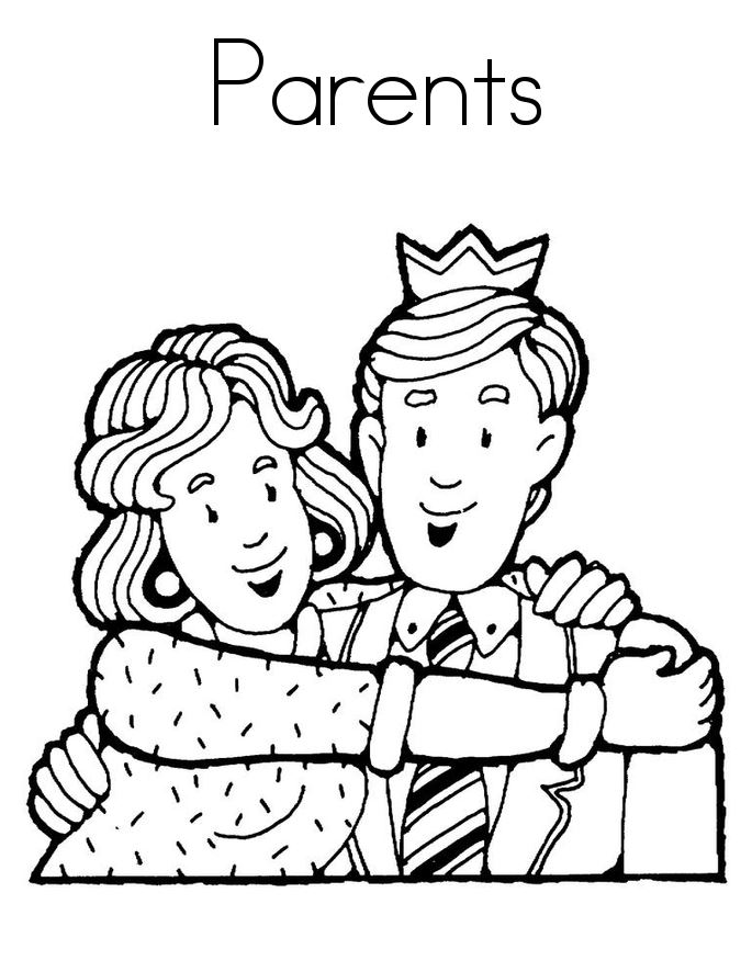 Meaningful Happy Parents Day Colouring Pictures