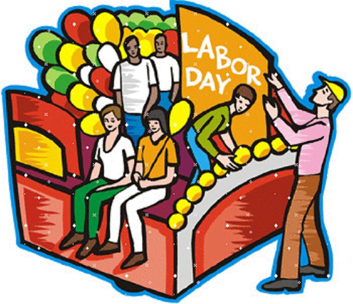 Unique Happy Labor Day Clip Art Banner