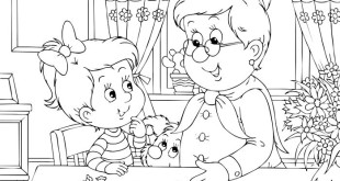 Best Grandparents Day Colouring Pictures
