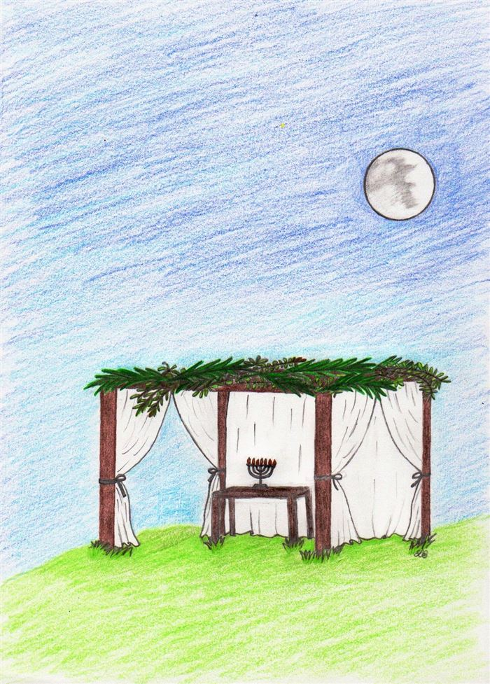 Beautiful Sukkah Clip Art