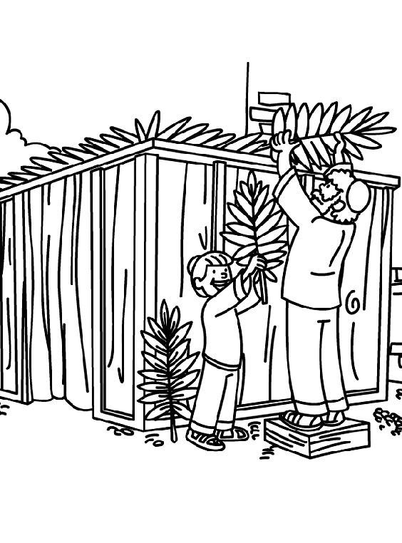 Beautiful Sukkah Pictures To Color