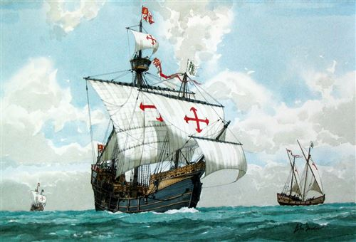 Beautiful Pictures Of Christopher Columbus Three Ships