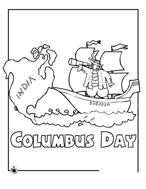 Famous Columbus Day Coloring Pictures