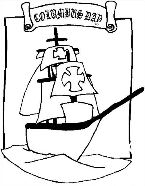 Best Free Columbus Day Coloring Pictures