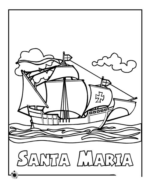 Beautiful Columbus Day Coloring Pictures