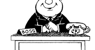 Free Black And White Boss's Day Clip Art